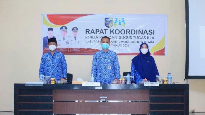 Gelar Rapat Koordinasi Pokja PUG dan Satgas KLA, Pontoh: Prioritas Pemberdayaan Perempuan dan Anak
