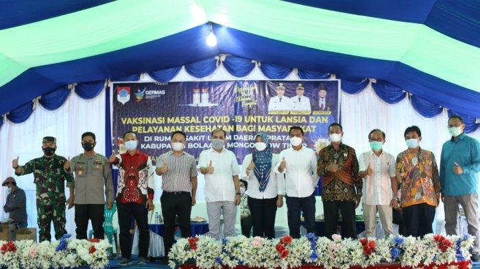 Perdana di Sulut, Boltim Gelar Vaksinasi Massal untuk Masyarakat