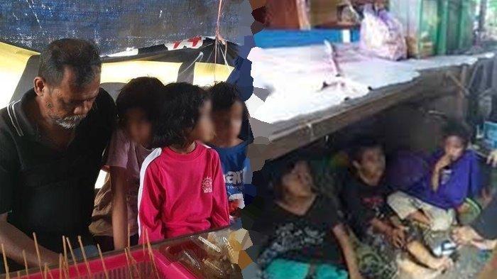 Tak Mampu Bayar Kos hingga Diusir, Pasutri di Sukoharjo Ajak 7 Anaknya Tidur di Warung Angkringan
