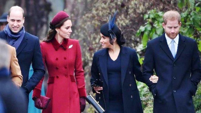 (Keluarga Penerus Kerajaan Inggris Pangeran William dan Kate Middleton). Pangeran Harry dan Meghan Markle dikabarkan merasa kurang senang dan frustrasi dengan kedudukan Pangeran William dan Kate Middleton dalam Kerajaan.