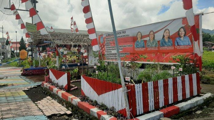 Kelurahan Walian Kecamatan Tomohon Selatan yang dipenuhi Nuansa Merah Putih.