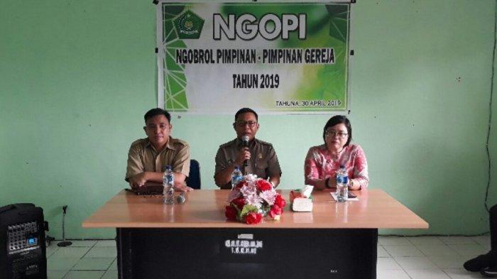 Kemenag Sosialisasikan Programnya dalam Ngobrol Pimpinan Gereja Kabupaten Kepulauan Sangihe