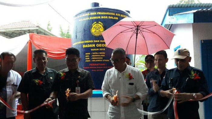 Kementerian ESDM Serahkan Bantuan Sumur Bor di Tateli Weru