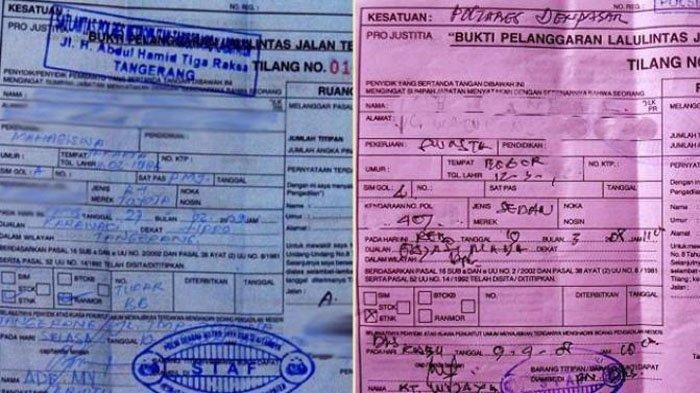 JANGAN KABUR, Ini Perbedaan Surat Tilang Merah dan Biru yang Diberikan Polisi Bila Kena Razia
