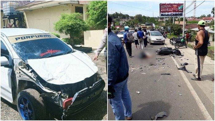 Kecelakaan Maut Tadi Siang Pukul 11.30 WIB, Pemotor Tewas di Tempat Ditabrak Agya yang Menyalip Truk