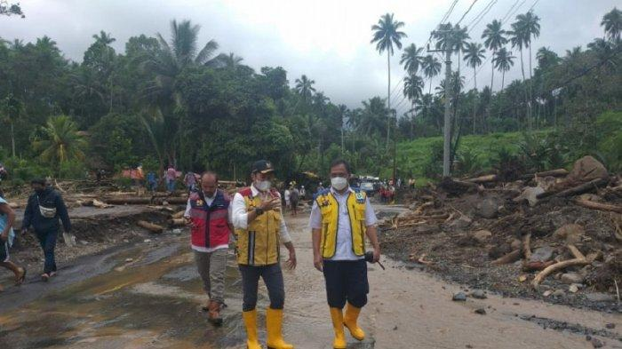 BPJN Sulut Tinjau Kerusakan Infrakstruktur yang Terdampak Banjir di Mitra