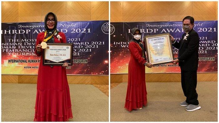 Kadis Pendidikan Bolsel Sabet Penghargaan Woman Development Award dari IHRDP Foundation