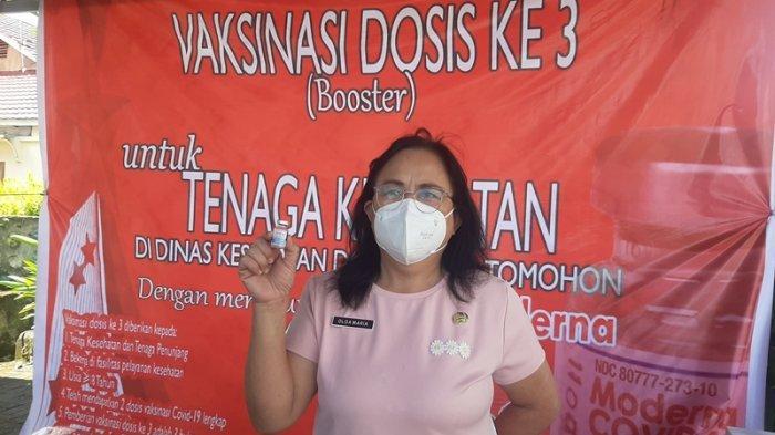 Sudah 880 Nakes di Tomohon Terima Vaksinasi Dosis Ketiga