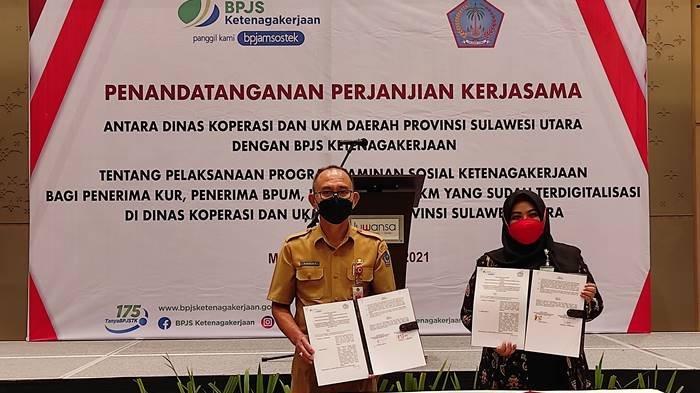Pertama di Indonesia, BPJamsostek Sulut Lindungi Ratusan Ribu Penerima KUR dan BPUM