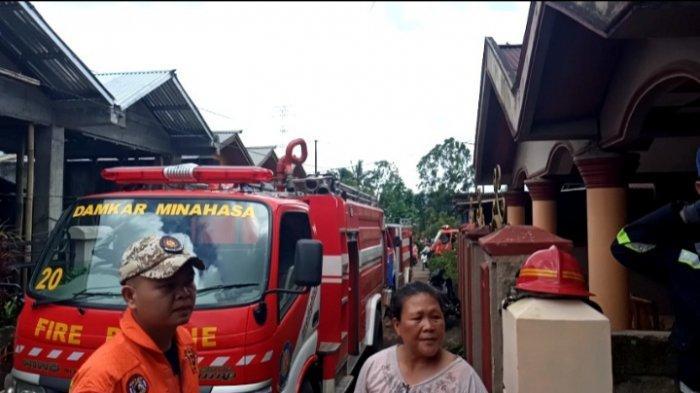 Berkat Bantuan Warga dan Damkar Minahasa, Kebakaran Satu Unit Rumah di Tondano Berhasil Diamankan