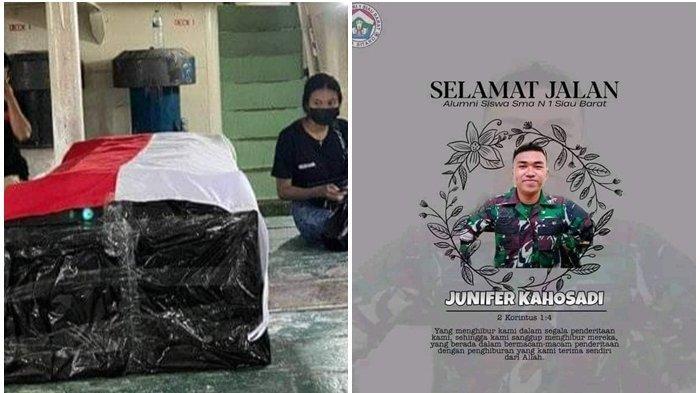Jenazah Junifer Kahosadi, Anggota TNI AD yang Tewas Ditabrak Pebalap Liar Tiba di Siau Malam Ini