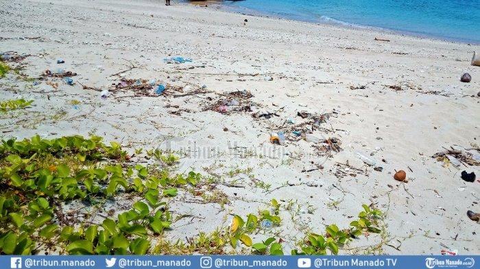 Kerang Cantik Bercampur Puntung Rokok, Sampah Rusak Pesona Pulau Tiga Bolmong