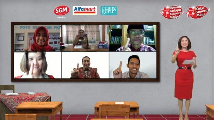 SGM Eksplor Bersama Alfamart dan Ruangguru Hadirkan Program Rumah Belajar Generasi Maju