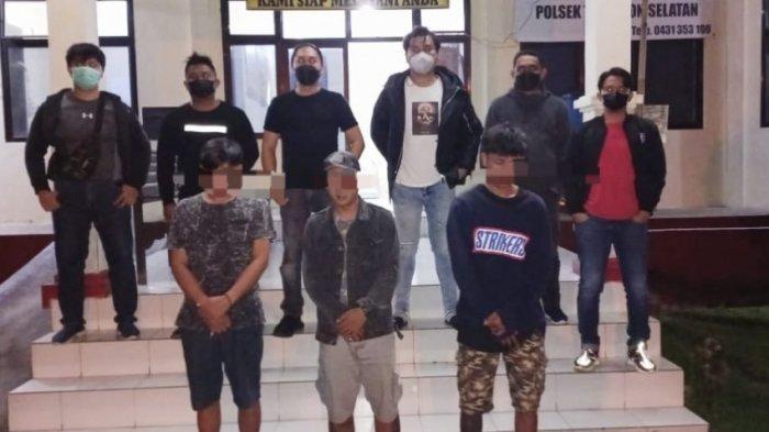 Lakukan Pengeroyokan, Tiga Pemuda asal Uluindano Digiring ke Mapolsek Tomohon Selatan