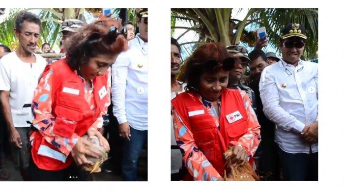 Ketika Menteri Susi Kupas Kelapa Pakai Tangan Kosong, Satu Menit Berujung Tepuk Tangan