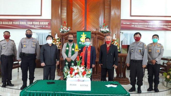 Sedia Masker Bagi Pemilih, GMIM Sion Matungkas Terapkan Prokes Ketat Dalam Pemilihan Pelsus