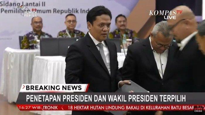 Sosok Perwakilan Prabowo di Acara Pleno Penetapan Presiden, Cium Tangan Wapres Baru