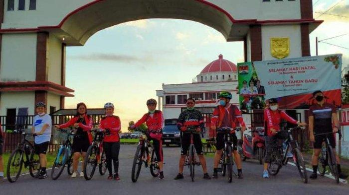 Ketua DPRD Minahasa Tenggara Jaga Imun Dengan Gowes
