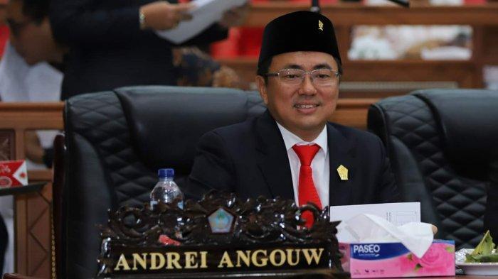 Andrei Angouw Muncul di Gedung Cengkih, Dapat Sambutan Hangat DPRD Sulut