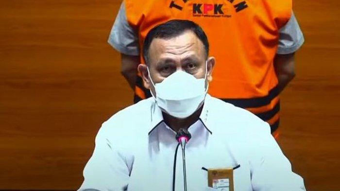 Ketua KPK Firli Bahuri dalam konferensi pers