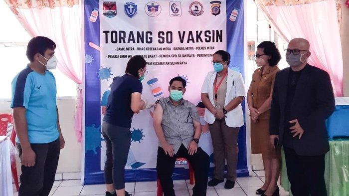 Bersama Pemkab Minahasa Tenggara dan Organisasi Pelayanan, GAMKI Mitra Galakan 'Marijo Ba Vaksin'