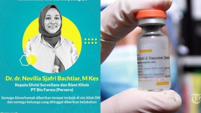 Sosok Dr Novilia Ketua Uji Klinis Vaksin Sinovac, Kini Meninggal Dunia karena Terinfeksi Covid-19