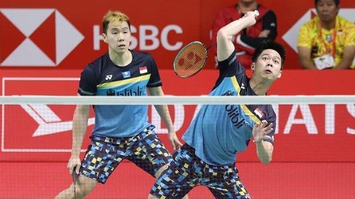 UPDATE SKOR Set I Ganda Putra Piala Sudirman 2019, Indonesia Unggul atas China Taipei, Skor 21-17