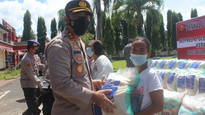 Warga Minsel Terdampak Covid-19 Dapat Bansos dari Sekretariat Presiden
