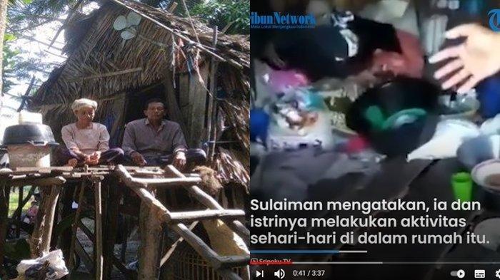 KISAH PILU Pasangan Suami Istri di Ogan Ilir, Tinggal di Rumah Tak Layak Huni, Masuk Air saat Hujan