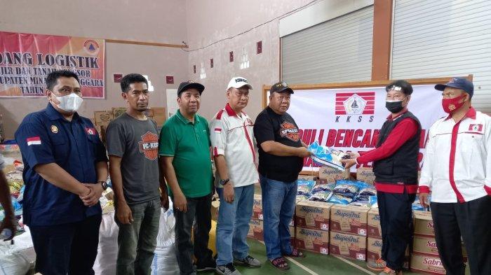 KKSS Sulut Salurkan Bantuan ke Korban Bencana di Minahasa Tenggara