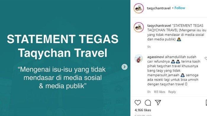 Klarifikasi Pihak Travel Taqy Malik Terkait Tudingan Penggelapan Dana Umrah