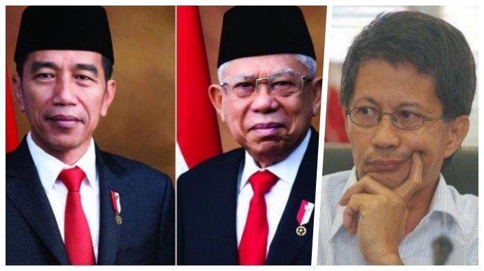 Rocky Gerung Beri Nilai 9 untuk 100Hari Kerja Jokowi-Maruf Amin,Said Didu Malah 3
