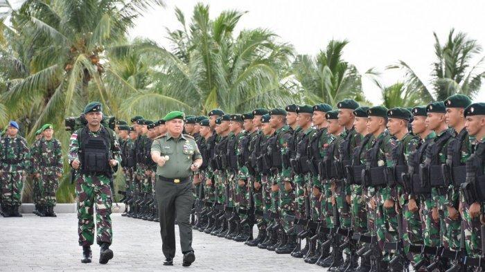 Pesan Pangdam Mayjen TNI Tiopan Aritonang Kepada Prajurit Yonif Raider 712/Wiratama Sebelum ke Papua