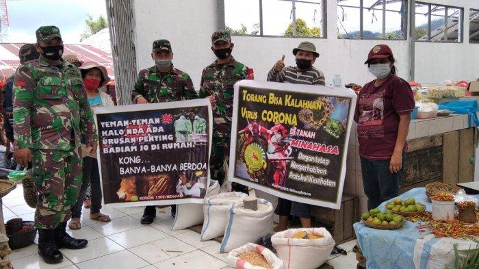 Ajak Warga Mengerti Prokes, Jajaran Kodim Minahasa Imbau Pakai Bahasa Daerah