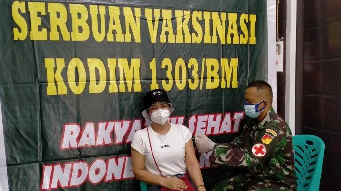 150 Warga Kotamobagu Ikut Vaksinasi Covid 19 Tahap Dua di Kodim Bolmong