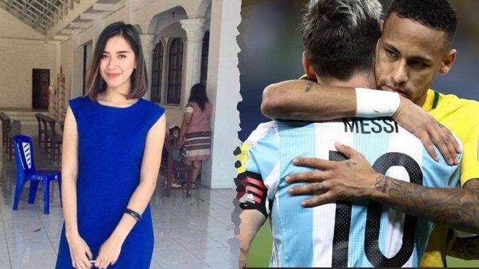 Gadis Cantik Minut Ini Kagumi Kerendahan Hati Messi dan Cara Bersyukur Neymar