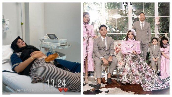 Kolase foto kondisi Ashanty dan keluarga Anang Hermansyah