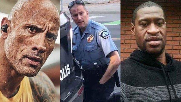 The Rock Sindir Polisi Derek Chauvin Yang Bunuh George Floyd Hatiku Hancur Lututmu Di Lehernya Tribun Manado