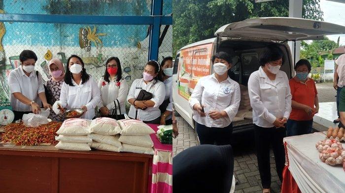 Istri Walikota Rita Tangkudung dan Istri Wawali Ellen Sondakh, Tinjau Gelar Pangan Murah