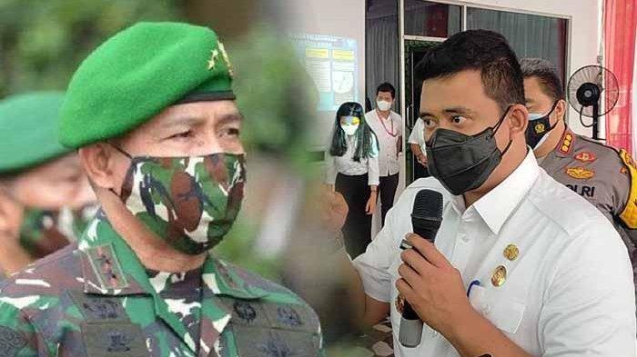 Kolase Wali Kota Medan Bobby Nasution dan Komandan Paspampres Mayor Jenderal TNI Agus Subiyanto