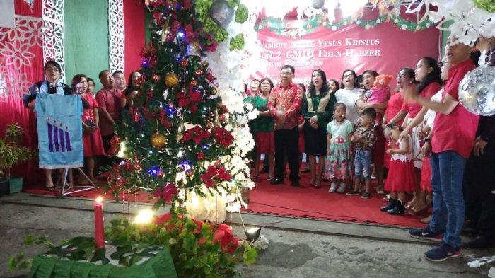 Pendeta Eva: ''Saat Ini Waktu Membagikan Cinta Kasih,'' Ibadah Natal Kolom 2 Benzar Bumber Meriah