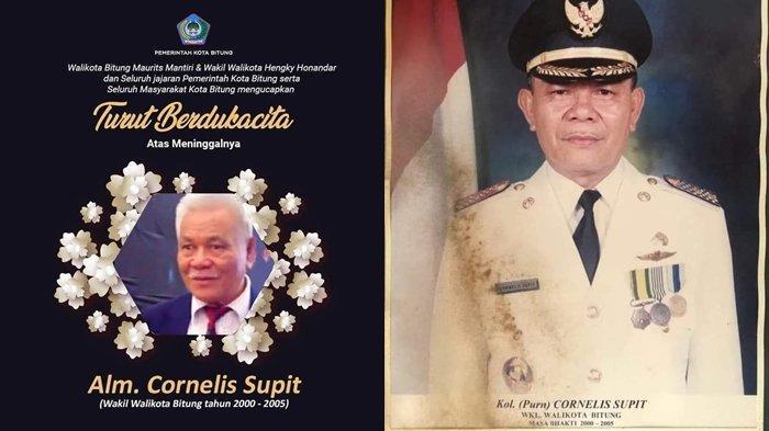 Mantan Wakil Wali Kota Bitung Kolonel (Purn) Cornelis Supit Meninggal Dunia