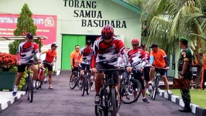 Dandim Bitung Giatkan Bersepeda Santai, keliling Kota
