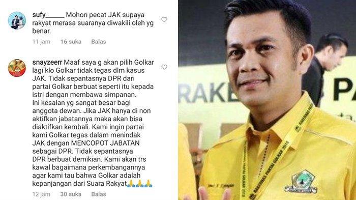 komentar netizen di akun instagram Golkar