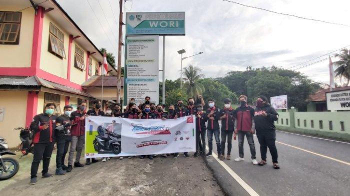 Honda BeAT Day, Komunitas BeAT City Rolling dan Berbagi dengan Para Nakes