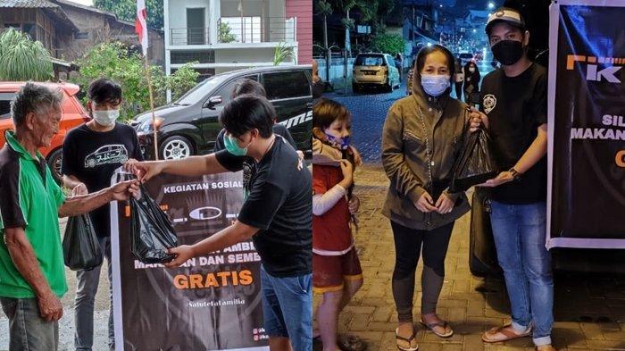 Berbagi Kasih Ditengah Pandemi Covid-19, KOG Chapter Manado Bagi-bagi Sembako dan Makanan Gratis
