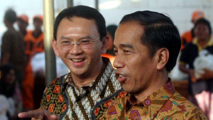 Komut PT Pertamina Basuki Tjahaja Purnama alias Ahok dan Presiden Jokowi