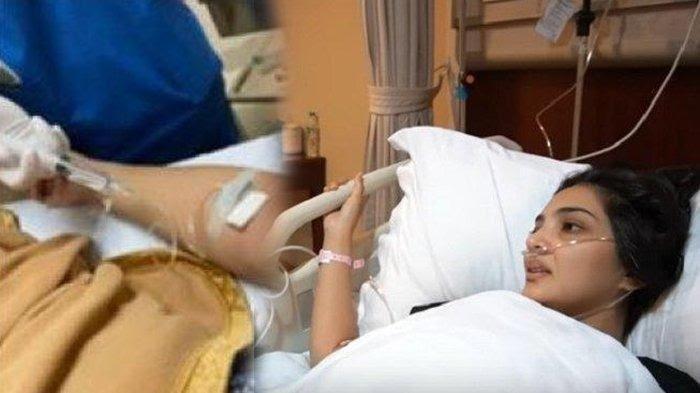 Kondisi Ashanty terbaring di Rumah Sakit.