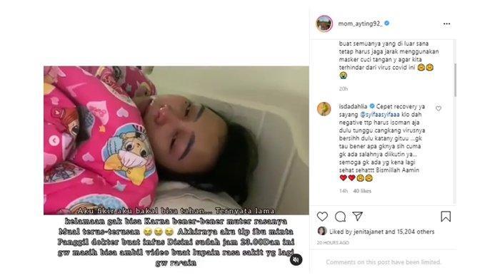 Kondisi Asyifa saat positif Covid-19; diiunggah kembali Umi Kalsum di Instagram, Kamis (15/7/2021).