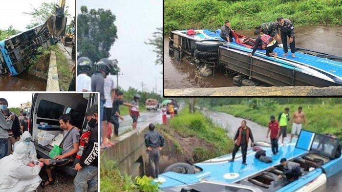 Kecelakaan Rabu (19/5/21), Bus Damri Terperosok ke Dalam Parit, 1 Tewas, Begini Kondisi Korban Luka